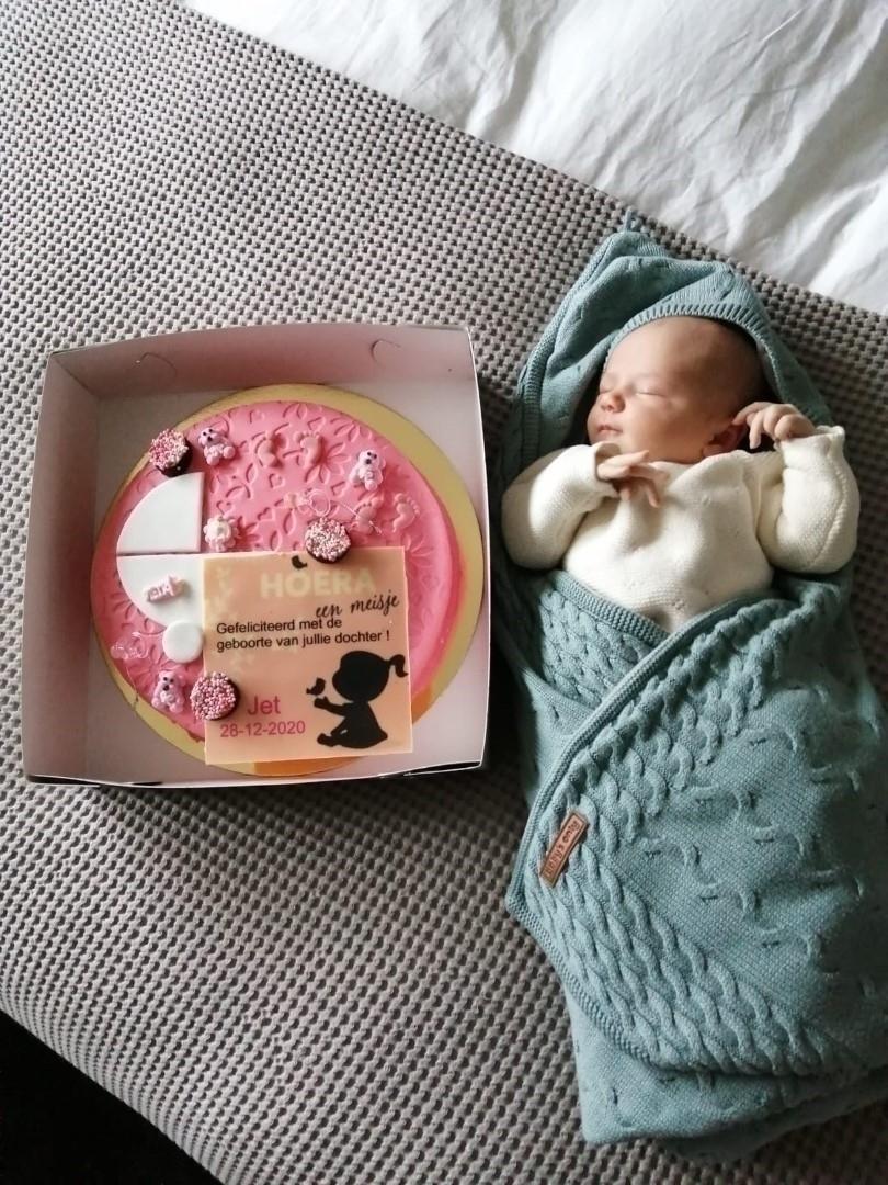 Geboortetaart voor dochter Arjan Morren