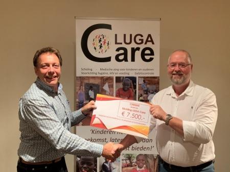 Bouwbedrijf Nap schenkt bedrag aan LUGA Care