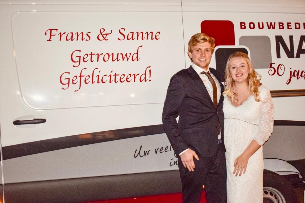 Trouwdag collega Frans Wagensveld